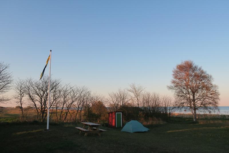 Teltplads på Øland