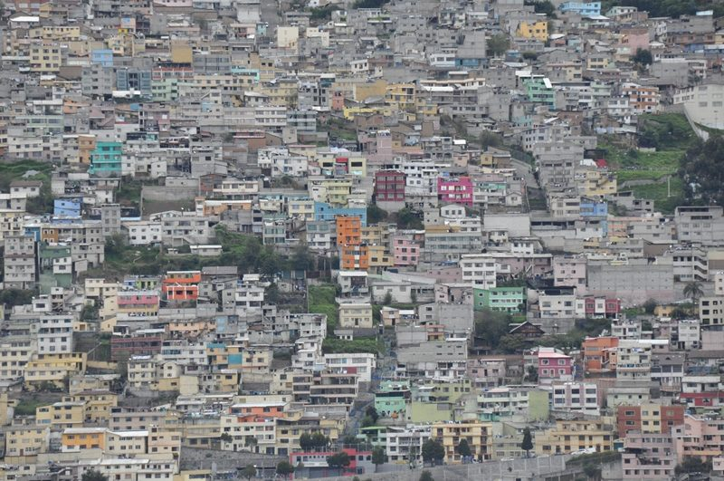 Husene står tæt i Quito
