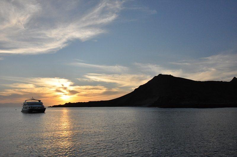 Solnedgang på Galapagos