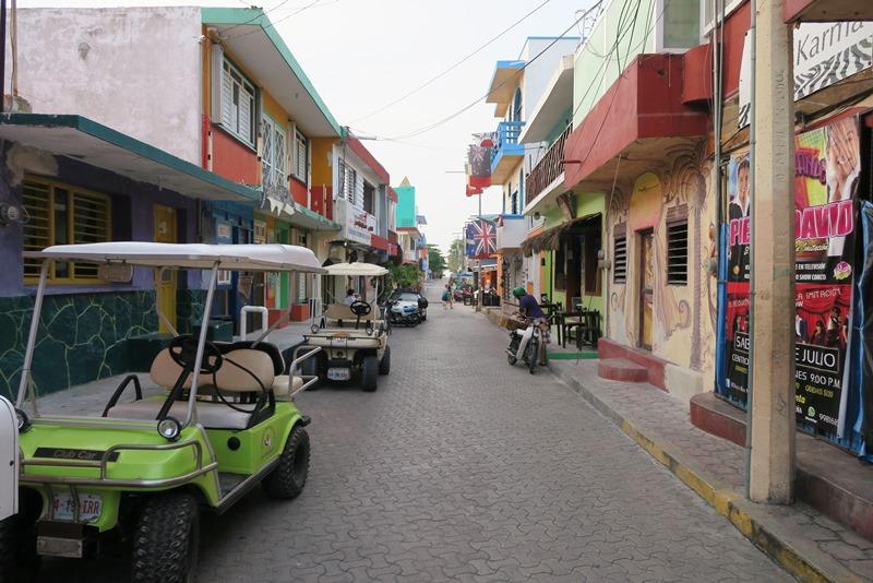 Typisk gade på Isla Mujeres
