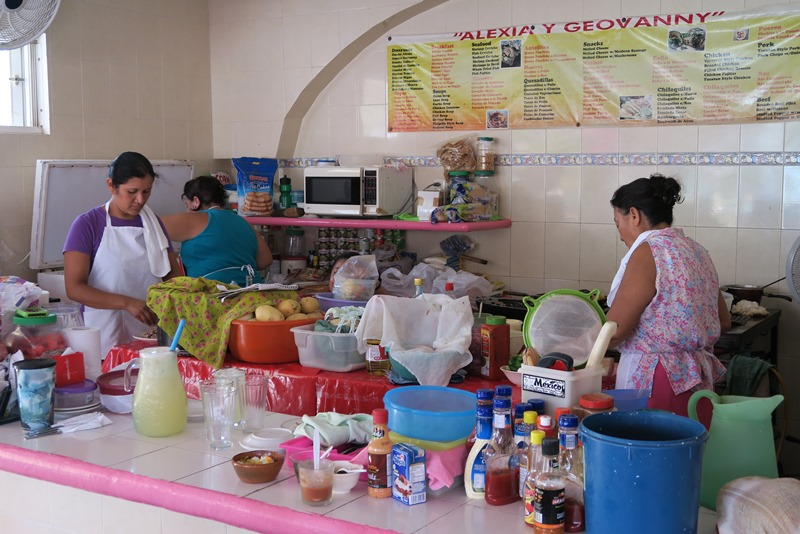 Bod på markedet på Isla Mujeres
