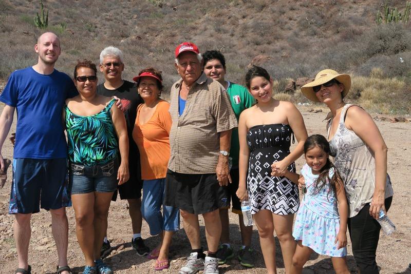Hele familien i Mexico