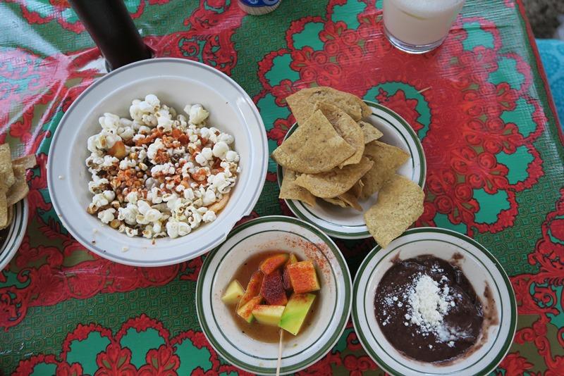 Mexicanske snacks på mexicansk cantina