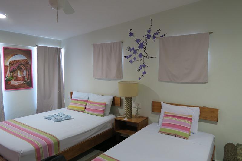 Vores værelse på Hotel Akumal