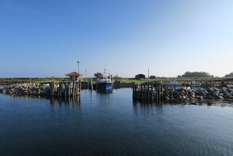 Hjortø havn en af de mindste i Danmark