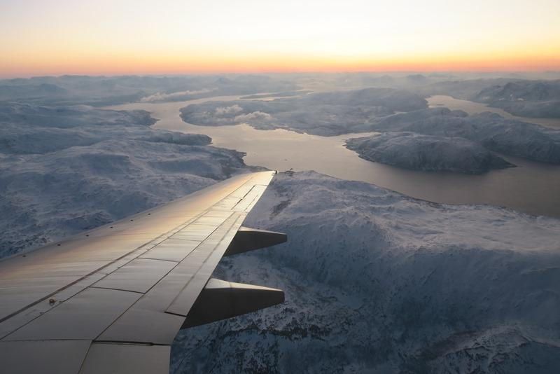 Smuk indflyvning over Troms