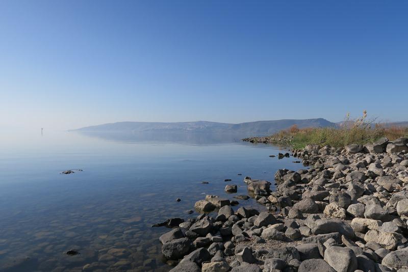Genesaret sø om morgenen