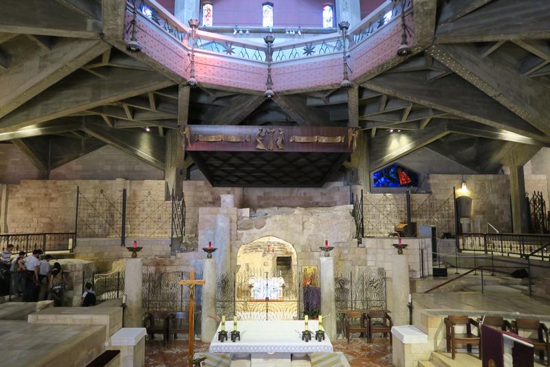 Inde i kirken i Nazaret