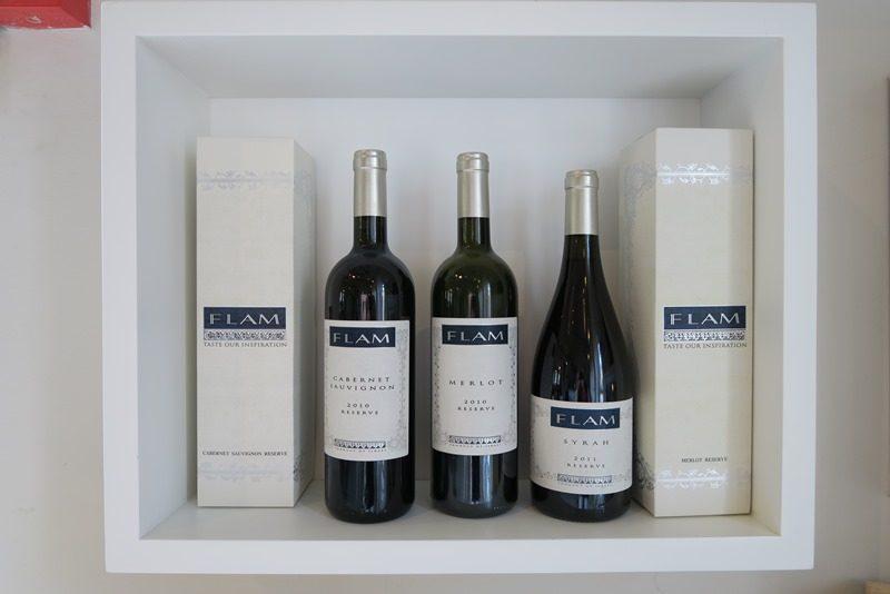 Vinen hos Flam Winery