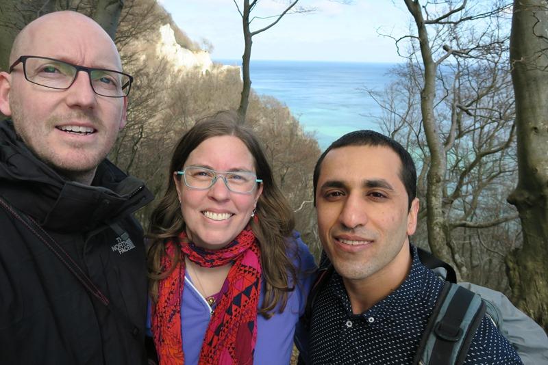 Ved Møns klint med vores nye ven Mohammad