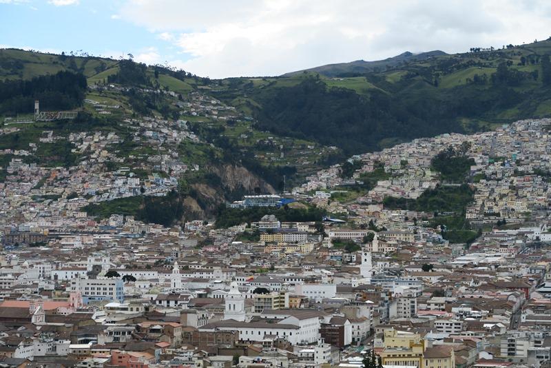 Udsigt over Quito
