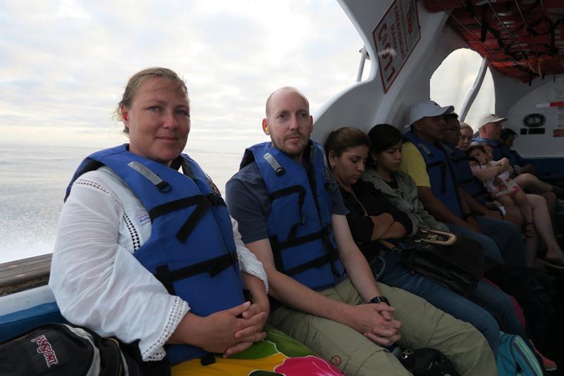 Færgetur mellem Galapgaosøerne