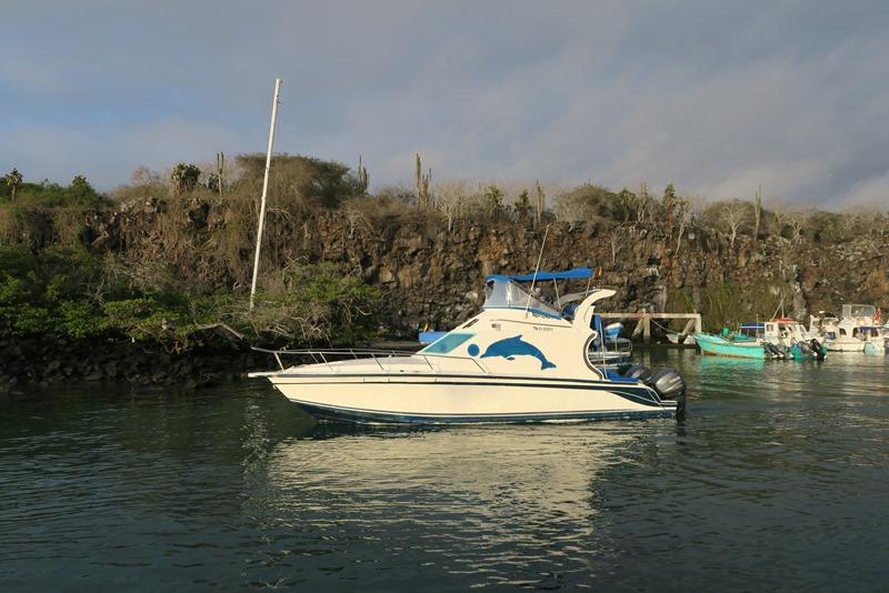 Typisk færge på Galapagos