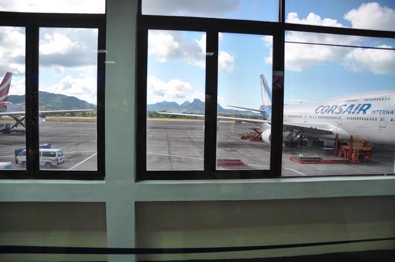 Fra lufthavnen på Mauritius