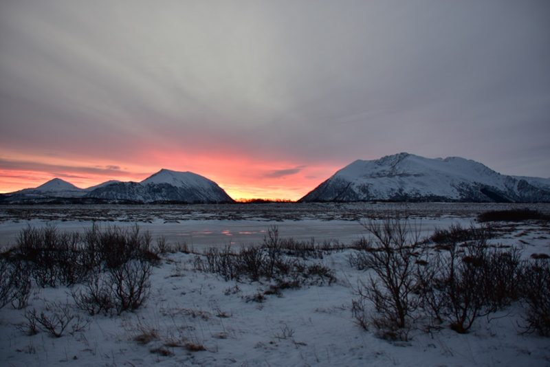 Fin solopgang i Nordnorge
