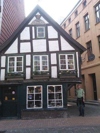 Gammelt hus i Schwerin