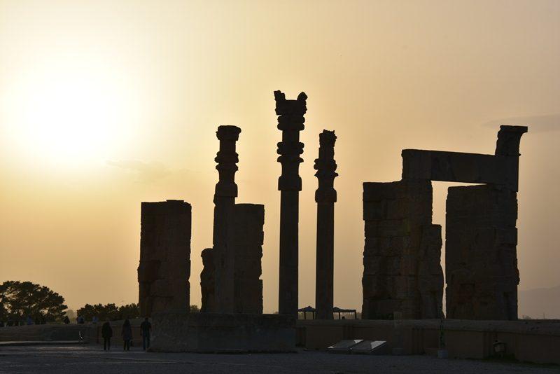 Solnedgang ved Persepolis