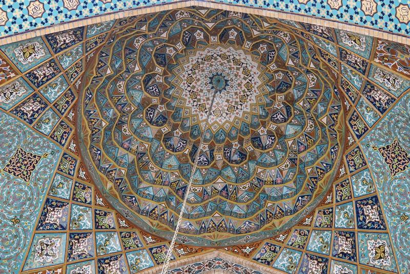 Smukt indgangsparti til moske, Teheran, Iran