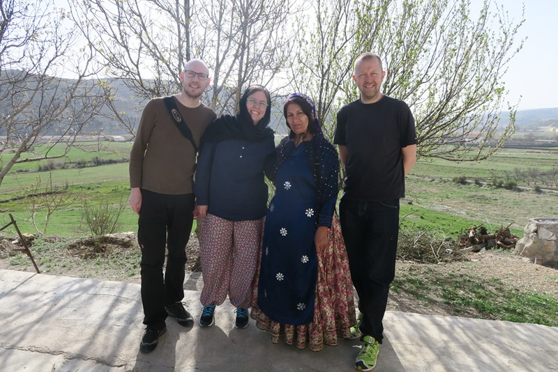 På besøg hos familie i Iran