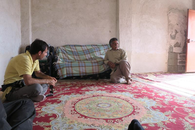 Besøg hos godsforvalter i Iran