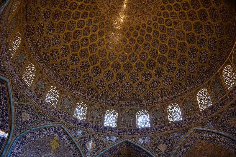 Den smukke kuppel i Isfahan