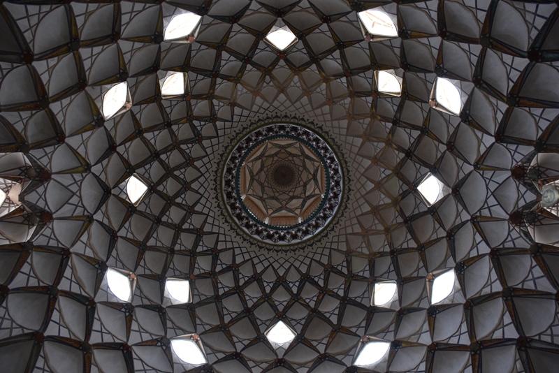 Loftet i Boroujerdi i Kashan i Iran