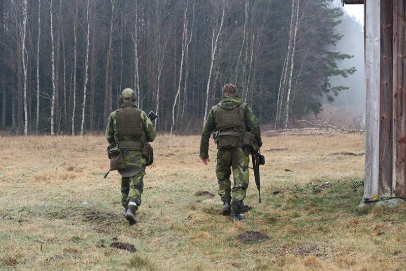 Flinke svenske soldater