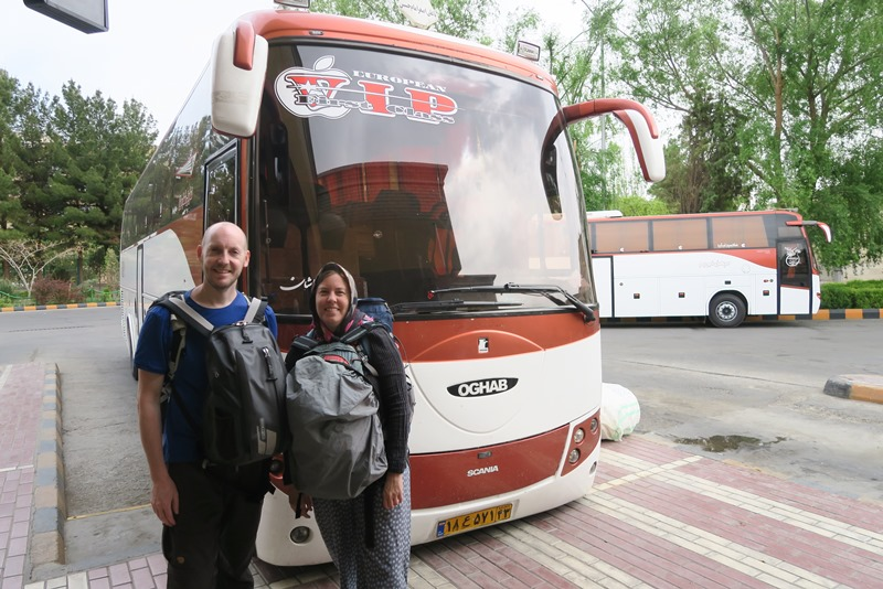VIP bus fra Esfahan til Kashan