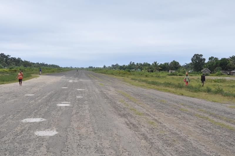 Landingsbanen i Mananara