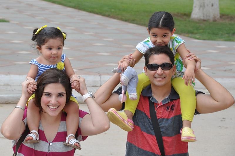 Hele familien i Hermosillo