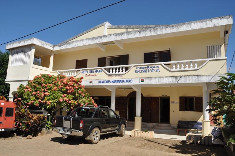 Chez Roger et af de få hoteller i Mananara