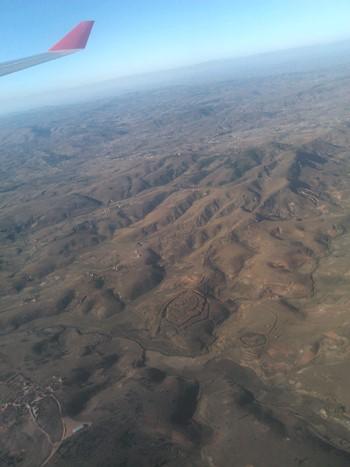 Udsigt over Madagaskar fra luften