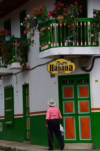 Smukt hus i Jardín, Colombia