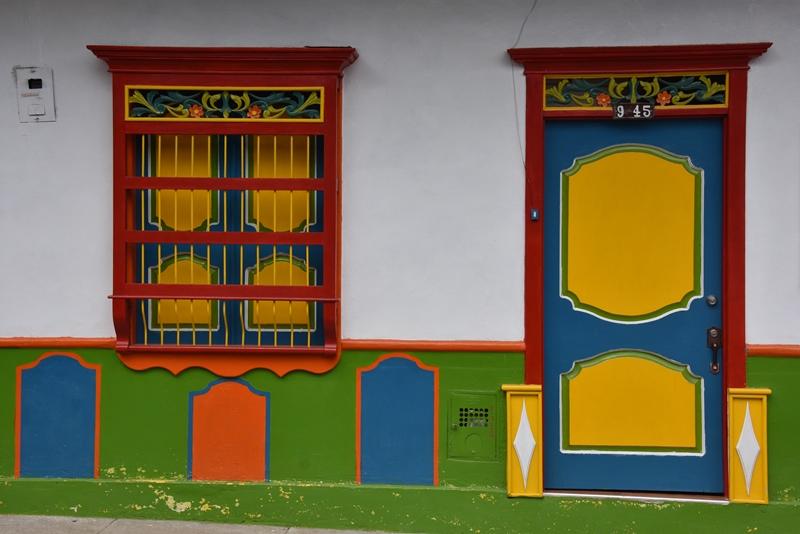 Flot hus i Jardín, Colombia