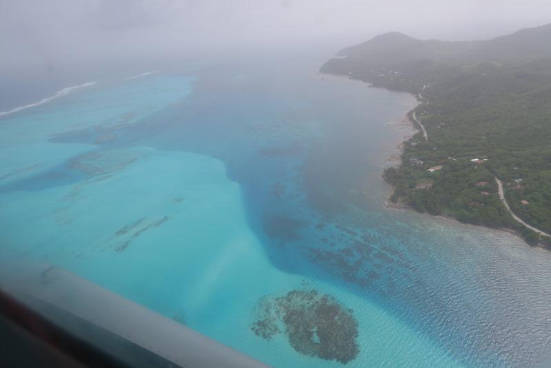 Det caribiske hav fra flyveren