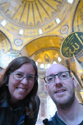 Two Danes On Tour i Hagia Sophia