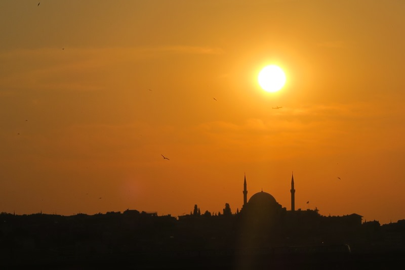 Solnedgang over Istanbul