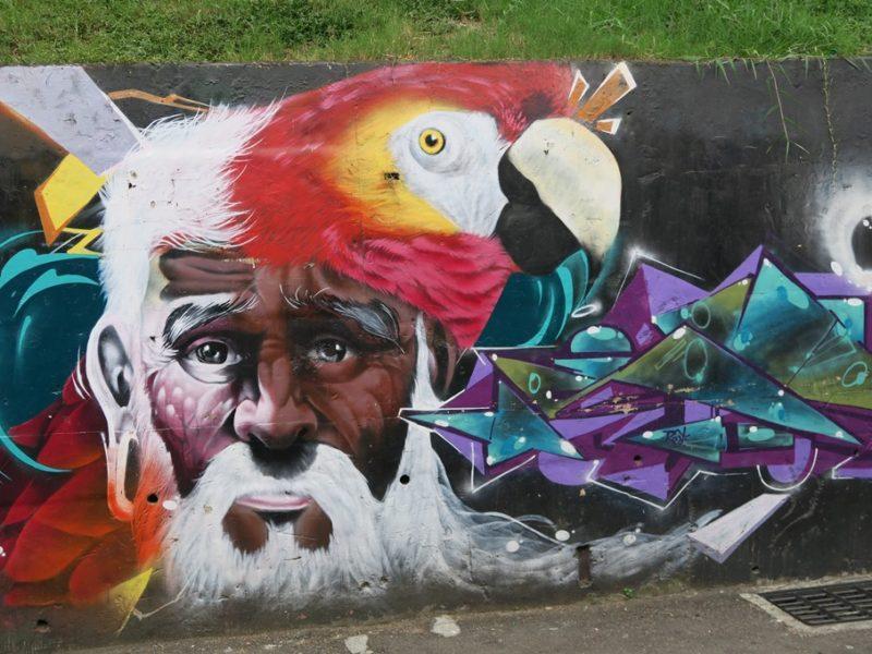 Graffiti i Comuna 13, Medellin, Colombia
