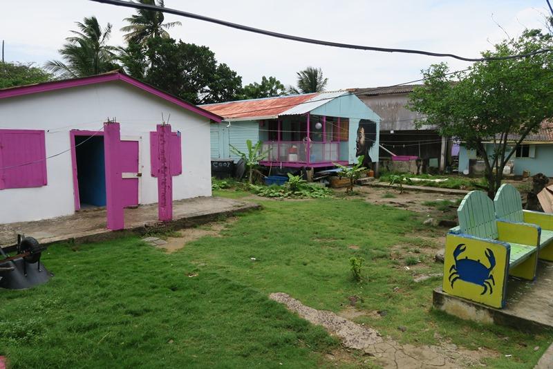 Typiske huse i Caribien, Santa Catalina, Colombia