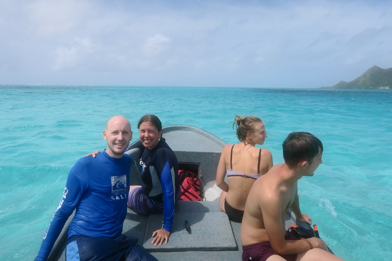 Snorkeltur ved Crab Caye