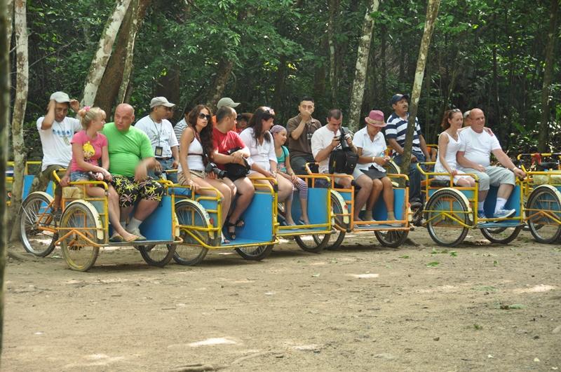 Cykeltaxaer i Coba i Mexico