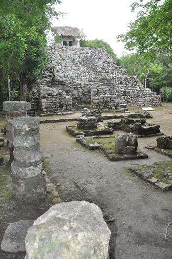 Mayaruinen Cobá i Mexico