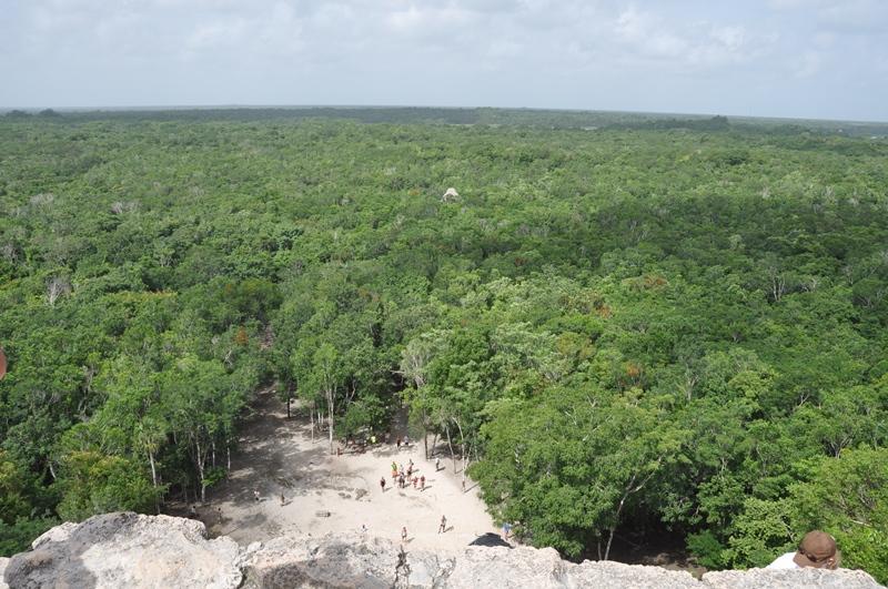 Flot udsigt over Cobá, Mexico