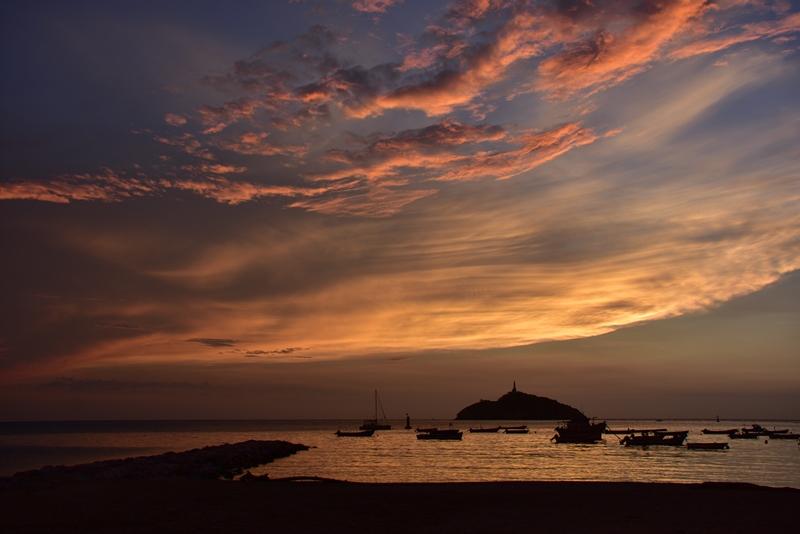 En fantastisk solnedgang i Santa Marta
