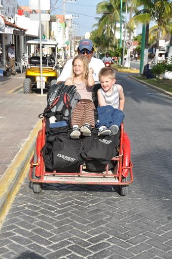 Ankomst til Isla Mujeres, Mexico