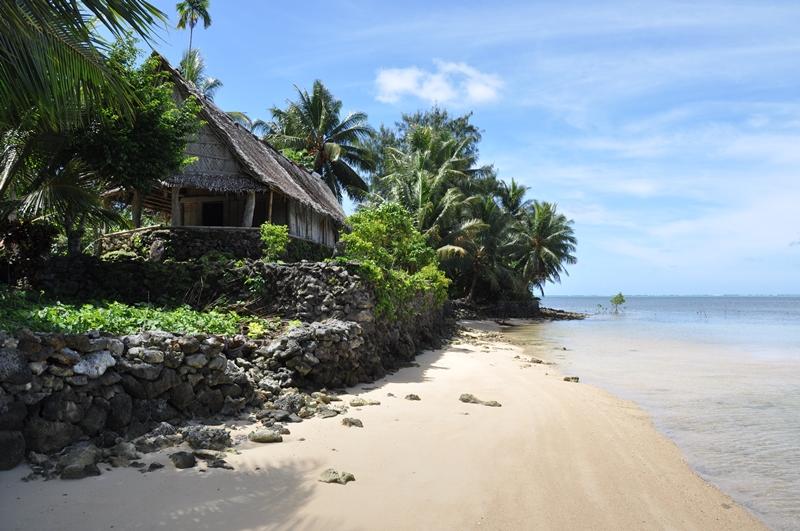 Et mandehus, som ligger utrolig smukt, Yap, Mikronesien