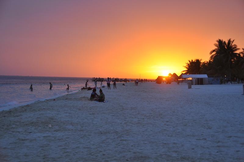Den smukke strand på Isla Mujeres, Mexico