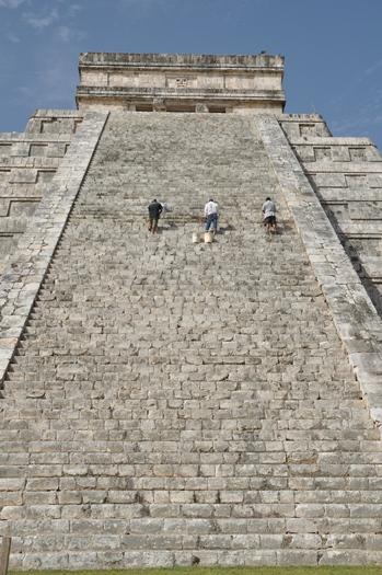 Arbejdere på Chichen Itza, Mexico