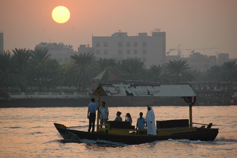 Solnedgang, Det gamle Dubai
