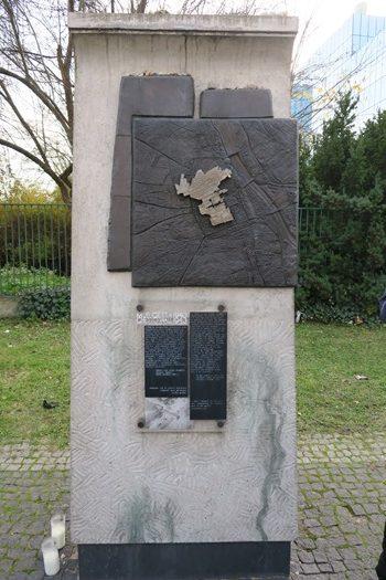 Markering af ghettoen i Warszawa